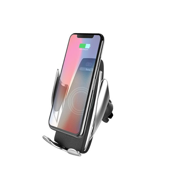 hoco-ca34-elegant-automatic-induction-wireless-charging-car-holder-front