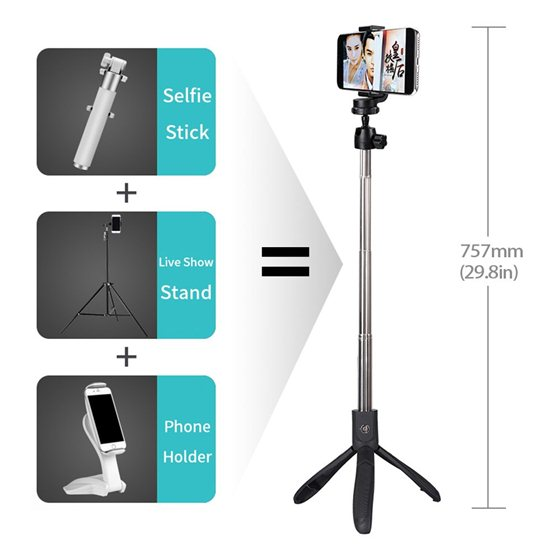 lewinner-k05-selfie-stick-tripod-stand-4-in-1-extendable-monopod-bluetooth-remote-phone-mount-for